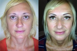 Permanent Makeup Eyebrows Microblading Elena Full Face