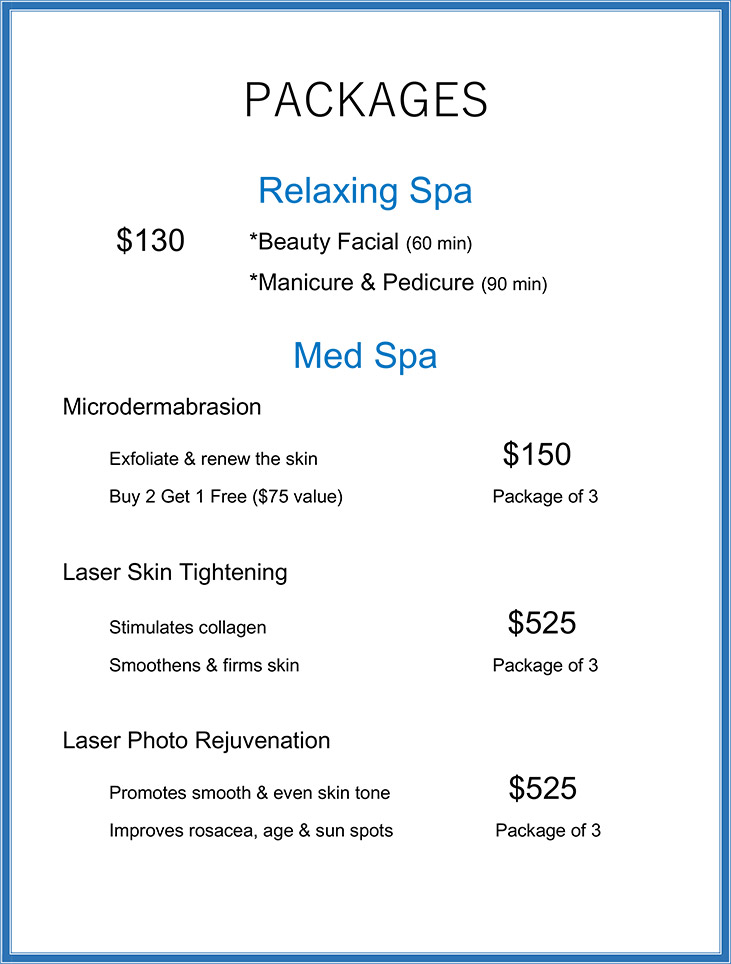 packages specials salon spa southfield mi